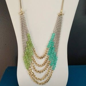 ZOE+SYD silver, gold and bead multi layer necklace